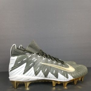 NIKE ALPHA MENACE ELITE FOOTBALL CLEATS KHAKI GOLD
